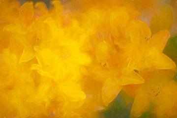 Rhododendron in schilderij stijl van Francis Dost