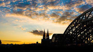 Kölner Dom bei Sonnenuntergang von Günter Albers