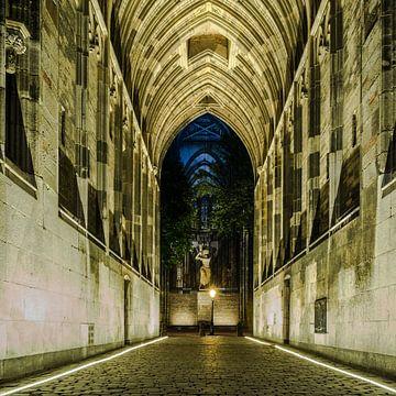 Doorkijk naar Domplein Utrecht von Utrecht by Night