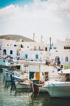 Fischereihafen auf der Insel Paros, Griechenland von Daphne Groeneveld