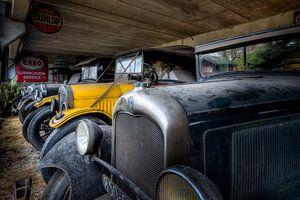 Zwart en Gele Auto's - Oldtimers