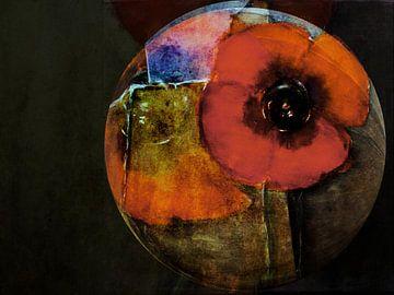 Red Poppy - abstract van Christine Nöhmeier