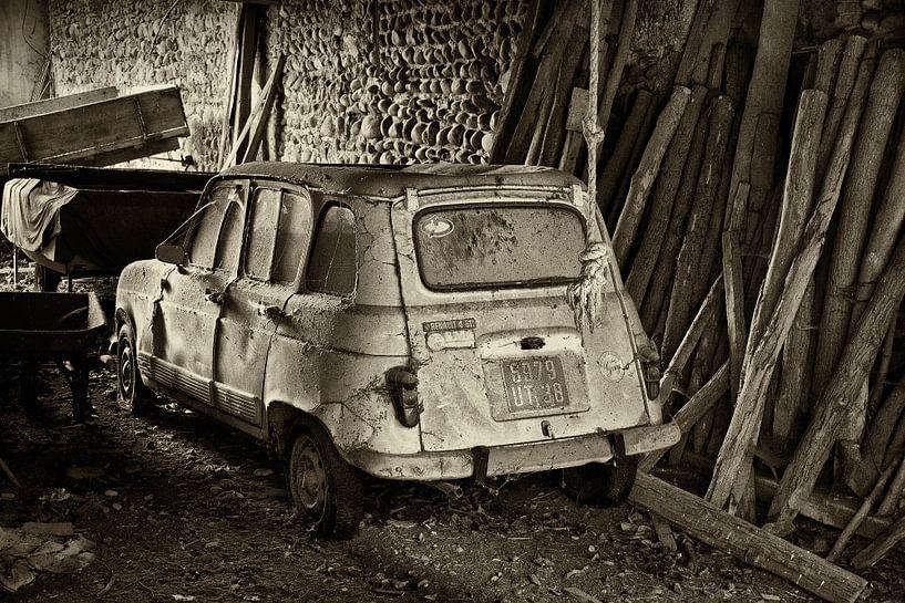 Oude Renault 4 van Peter Halma