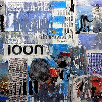Collage collectie - Ooit als eerste toegepast door Picasso, en inmiddels een veelgebruikte kunstvorm. Door bestaande teksten en afbeeldingen zorgvuldig te kiezen en te combineren met andere grafische technieken ontstaat er een nieuw beeld waarin sfeer en emotie van het doek afspat! Een stevige eye catcher voor aan je muur!