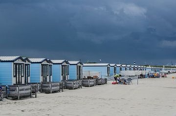Strandhuisjes Hoek van Holland sur Arthur Wolff