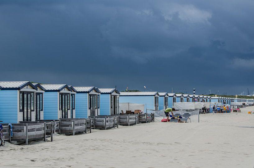 Strandhuisjes Hoek van Holland van Arthur Wolff