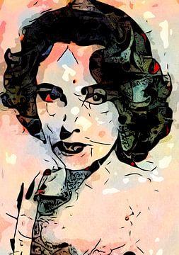 Liz Taylor. van zam art