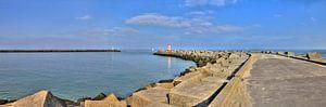 Panorama van de haven van Scheveningen