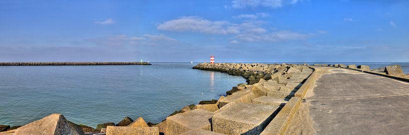 Panorama van de haven van Scheveningen van Jan Kranendonk
