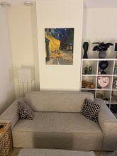 Kundenfoto: Caféterrasse am Abend (Vincent van Gogh), auf leinwand