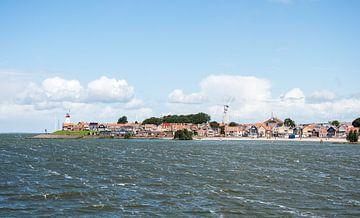 skyline van het vissersdorp Urk