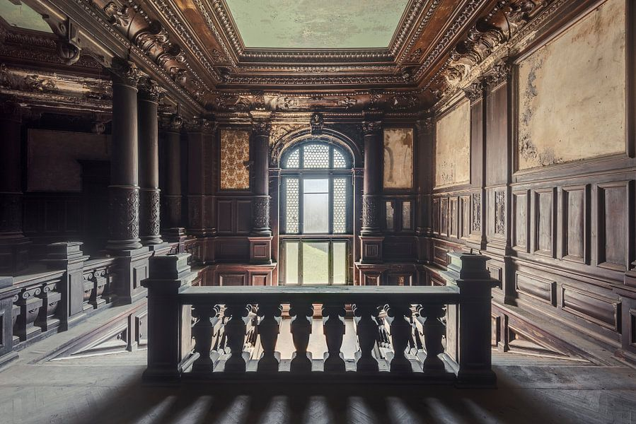 De trap van het paleis van perry wiertz op canvas behang en meer