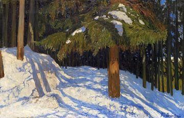 Tannenwald im Schnee, FRITZ OVERBECK, 1909 von Atelier Liesjes