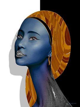 Gold und Silber (Blau) von Ton van Hummel (Alias HUVANTO)
