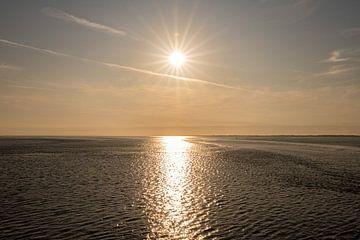 Zonsondergang Waddenzee van Elma Mud