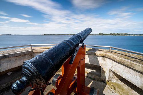 Vesting met historisch VOC kanon