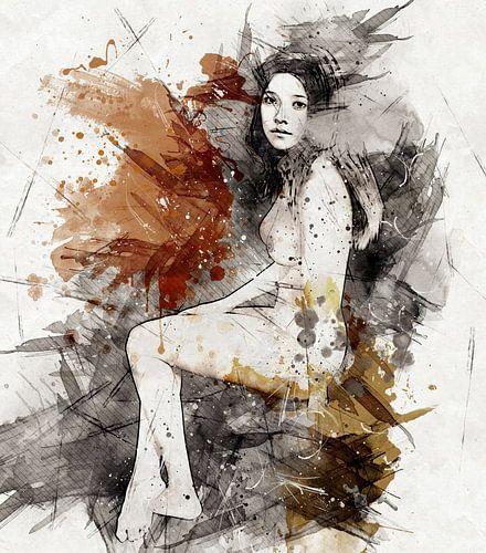 Woman A01 digi_painting_HMS van H.m. Soetens