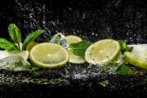 Verfrissende citroen en munt, lemon and mint