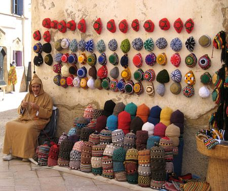 Haken is helemaal in! Marokko.