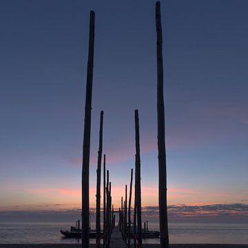 Zonsopkomst Steiger Veer Texel Vlieland (Kaap Noord) von Waterpieper Fotografie