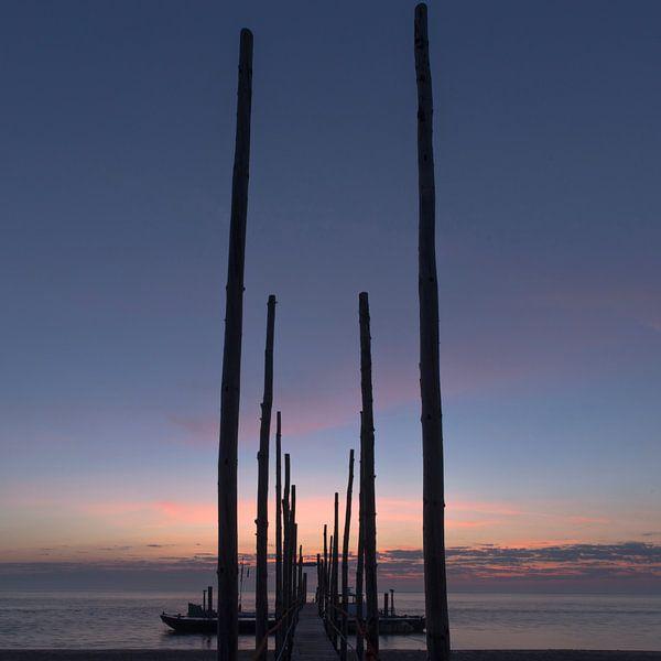 Zonsopkomst Steiger Veer Texel Vlieland (Kaap Noord) van Waterpieper Fotografie
