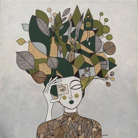 Vrouw die kijkt (nr.2020-10) van Kris Stuurop