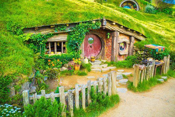 Voorkant van Hobbit huis