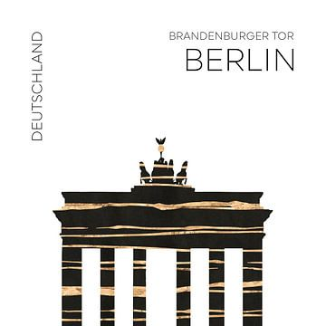 Stedelijke kunst BERLIN Brandenburger Poort van Melanie Viola