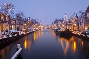 """Luttik Oudorp in Alkmaar während eines """"Schneesturms"""" von Sjoerd Veltman"""