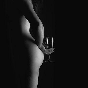 Zeit für Wein... schwarz-weiß von Leo van Valkenburg