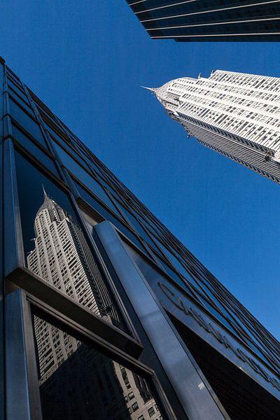 Chrysler Building New York Reflectie van Jean-Paul Wagemakers
