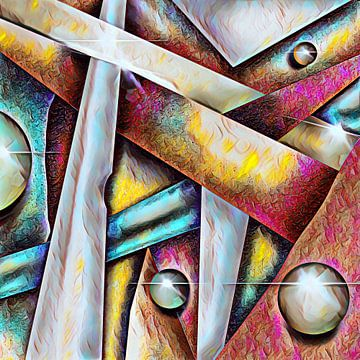 Abstrakte Kunst - Metallschrott