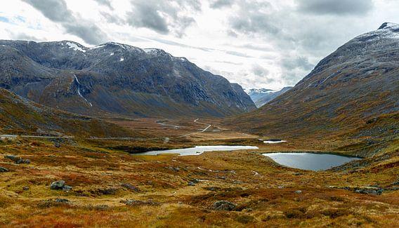 Herfstkleuren Noorwegen van Menno Schaefer