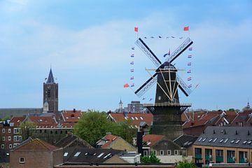 Uitzicht Schiedam met Koningsdag van Kok and Kok