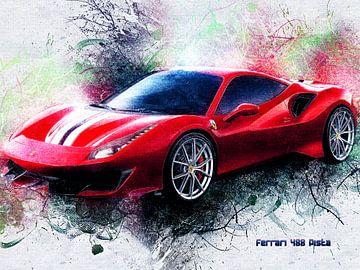 Ferrari van Printed Artings