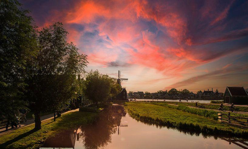 Hollands Landschap Zaanse Schans van Brian Morgan