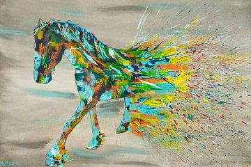 Friesisches Pferd malen von Kim van Beveren