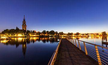 Potsdam Skyline zur blauen Stunde