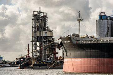 Schepen in de haven Amsterdam. van scheepskijkerhavenfotografie