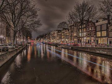 """Amsterdam bei Nacht """"Lichtfest von ina kleiman"""