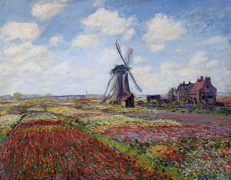 Tulpenveld in Holland - Claude Monet van Marieke de Koning