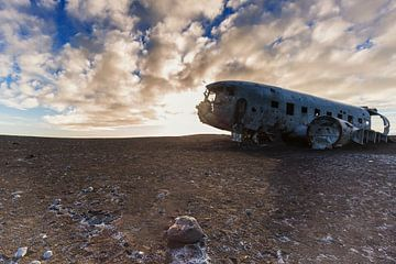 Dakota-Flugzeug stürzt in Island ab von Paul Weekers Fotografie