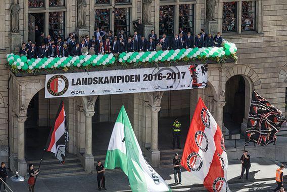 Huldiging landskampioen Feyenoord op de Coolsingel in Rotterdam