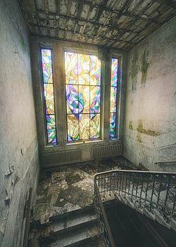 Cum Laude - glas in lood raam van Olaf Kramer