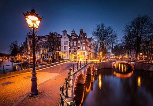 Keizersgracht Amsterdam by night van