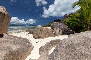 Plage de l'île des Seychelles La Digue