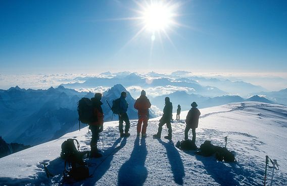 Op de top van de Mont Blanc