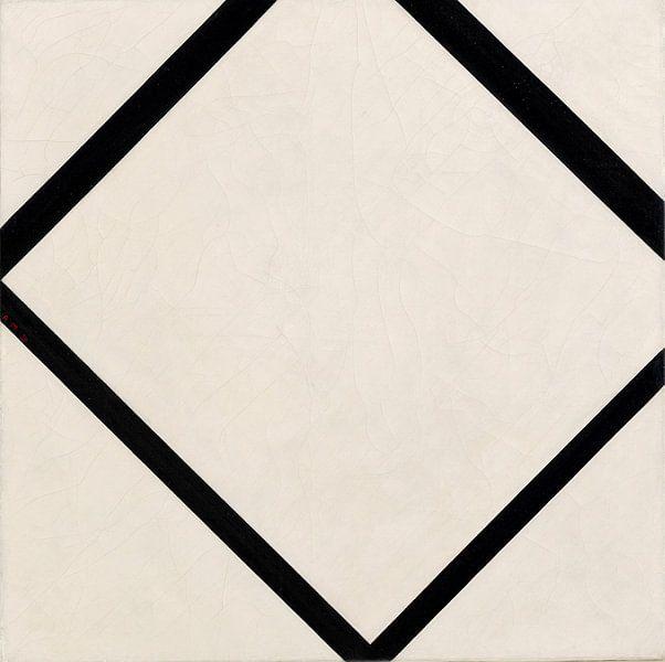 Piet Mondriaan. Composition No. 1_ Lozenge with Four Lines von 1000 Schilderijen