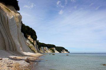Schöne Kreideküste von Ostsee Bilder
