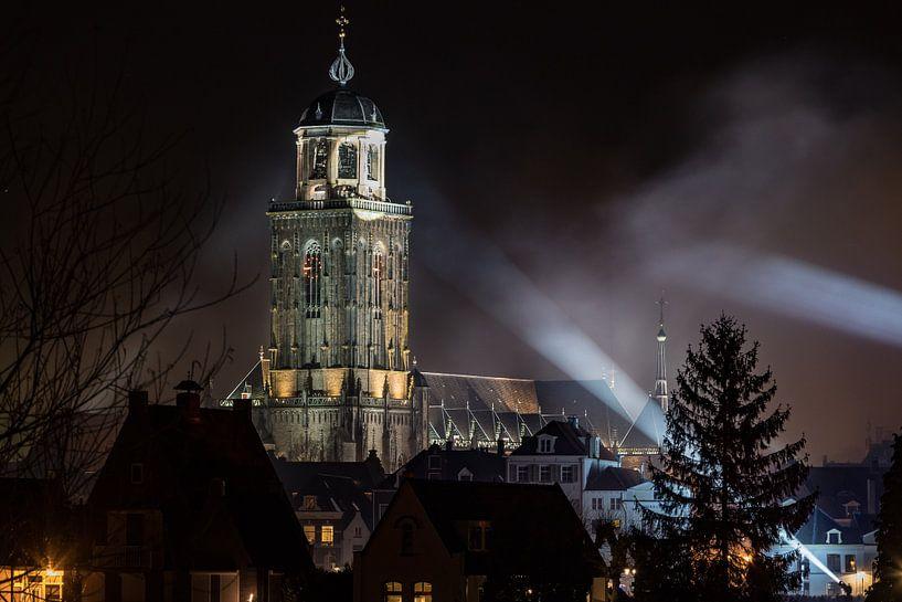 Deventer toren in de spotlights van VOSbeeld fotografie